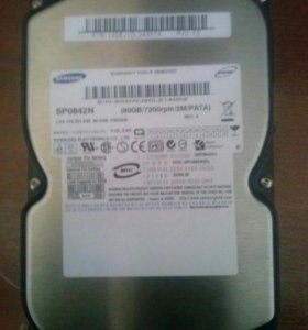 Жесткий диск IDE Samsung sp0842n 80gb