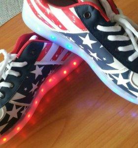 Светящиеся кроссовки.