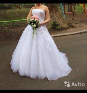 Продам свадебное шикарное платье