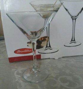 Продам бокалы для мартини Новые.