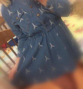 Туника -платье джинсовое