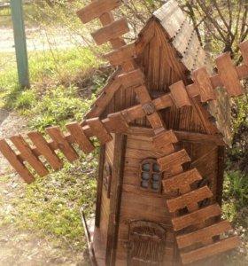 Мельница садовая декоративная