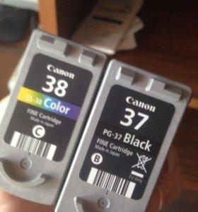 Принтер и картриджи canon mp210