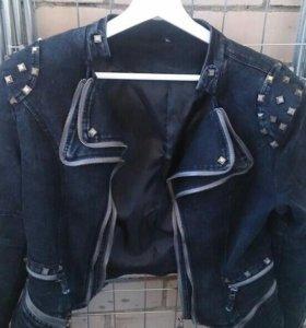 Джинсовая куртка-пиджак НОВАЯ