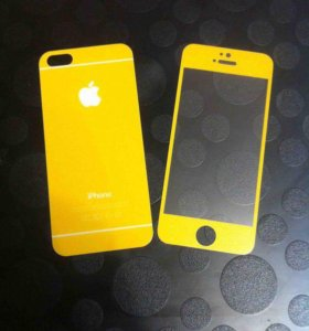 Защитные цветные стекла на iPhone 5/5S, SE