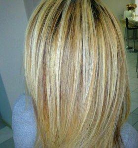 Волосы накладка из Натуральных волос