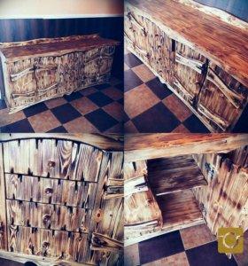 Деревянный кухонный стол )