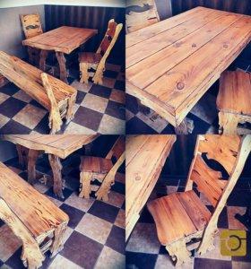 Стол со стульями )