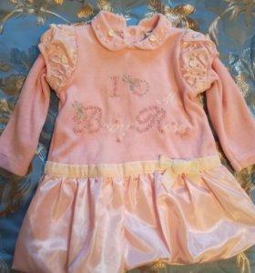 Нарядное бархатное платье, 68-74