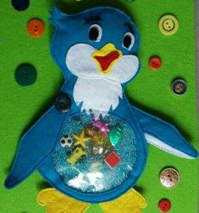 Игрушка-искалка Пингвиненок Лоло