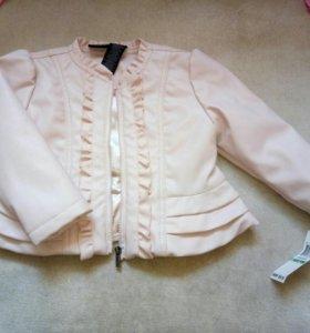 Кожаная курточка для девочки 2-3года
