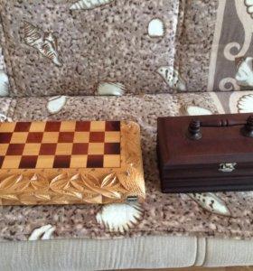 Шахматы и нарды 2в1