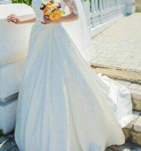 Свадебное платье цвет амбре айвори
