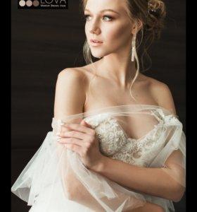 Свадебный /вечерний макияж и причёска