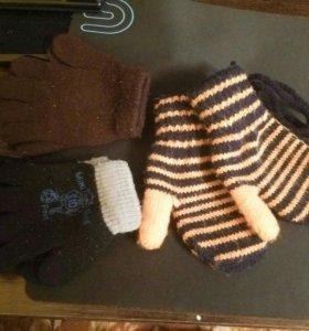 Перчатки варежки 2 года