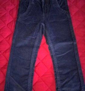 Новые вельветовые джинсы на мальчика, размер 86-92