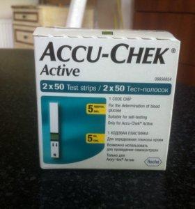 Тест полоски Accu Chek active