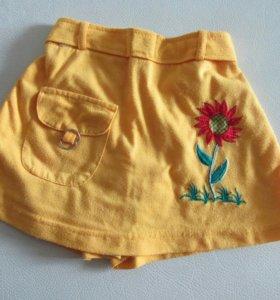 Юбка- шорты на 3 годика