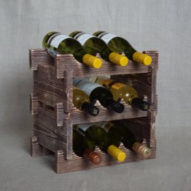 Стеллаж для вина в стиле рустик на 9 бутылок