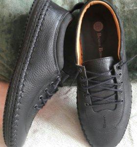 Новые кожаные мокасины/полуботинки/ботинки/туфли