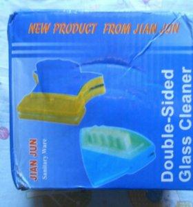 Двухстороняя магнитная щетка для мытья окон