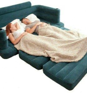 Надувной диван-трансформер Intex 193х231х71см