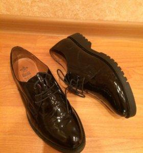 Туфли кожаные, размер 38