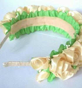Ободок для волос с розами