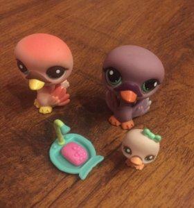 Little Pet Shop семья лебедей