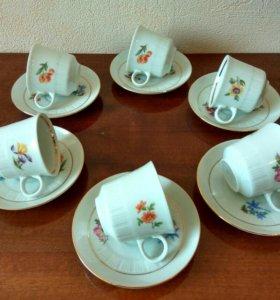 Кофейный сервиз, 6 персон, ГДР