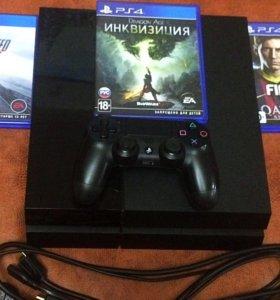 Продам PS - 4 на 500GB 3 Игры на дисках обмен