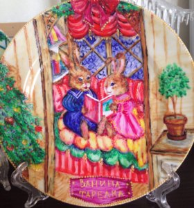 Посуда ручной росписи под заказ