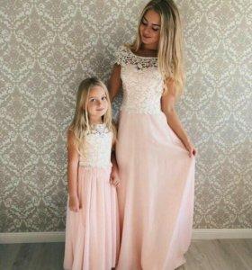 Фемили стайл,пошив платьев маме и дочке