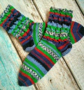 Носки вязаные разноцветные