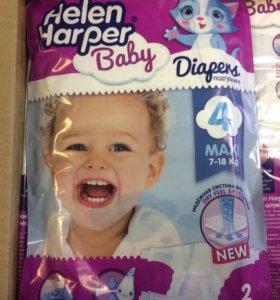 Памперсы Helen Harper Baby 4 (7-18 кг) 40 шт