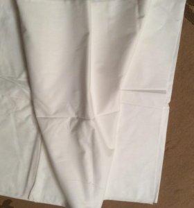 Отрез белой х/б ткани 140х 800см