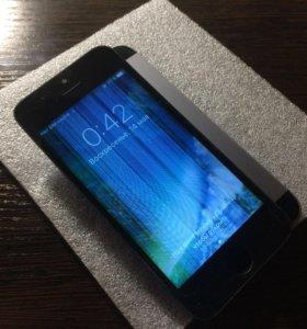 Модуль iPhone 5s черный рабочий, с полосами
