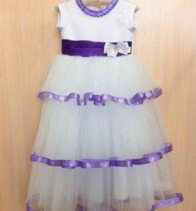 Новое детское пышное нарядное платье