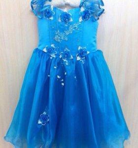 Новое детское нарядное пышное платье