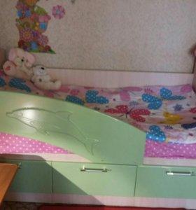 Кровать с матрасом Дельфин
