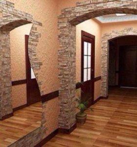 Декоративный гипсовый камень и 3D панели