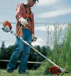 Выкошу траву триммером