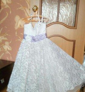 Бальное платье на выпускной в детский сад