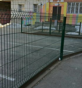 Забор 3д металлический
