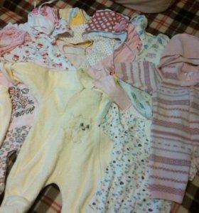 Пакет вещей для девочки 0-3 месяцев