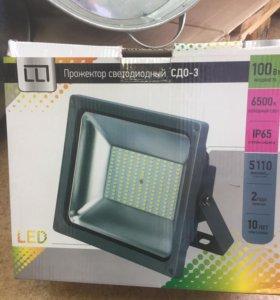 Прожектор светодиодный сдо-3 100