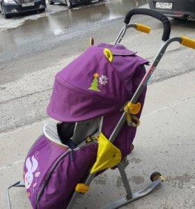 санки детские с колёсами, торг