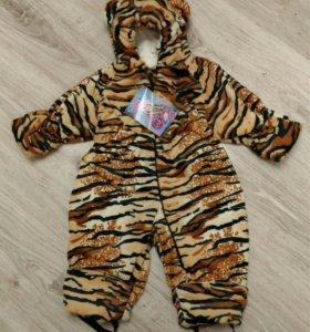 Плюшевый комбинезон тигренка, 68-74,74-80