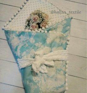 Роскошный конверт одеяло на выписку