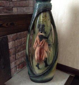 Напольная керамическая ваза в греческом стиле